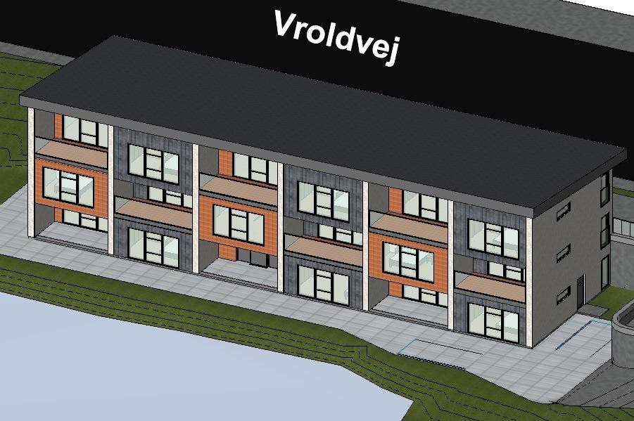 Nyt boligprojekt med 8 lejligheder på Vroldvej 90, 8660 Skanderborg